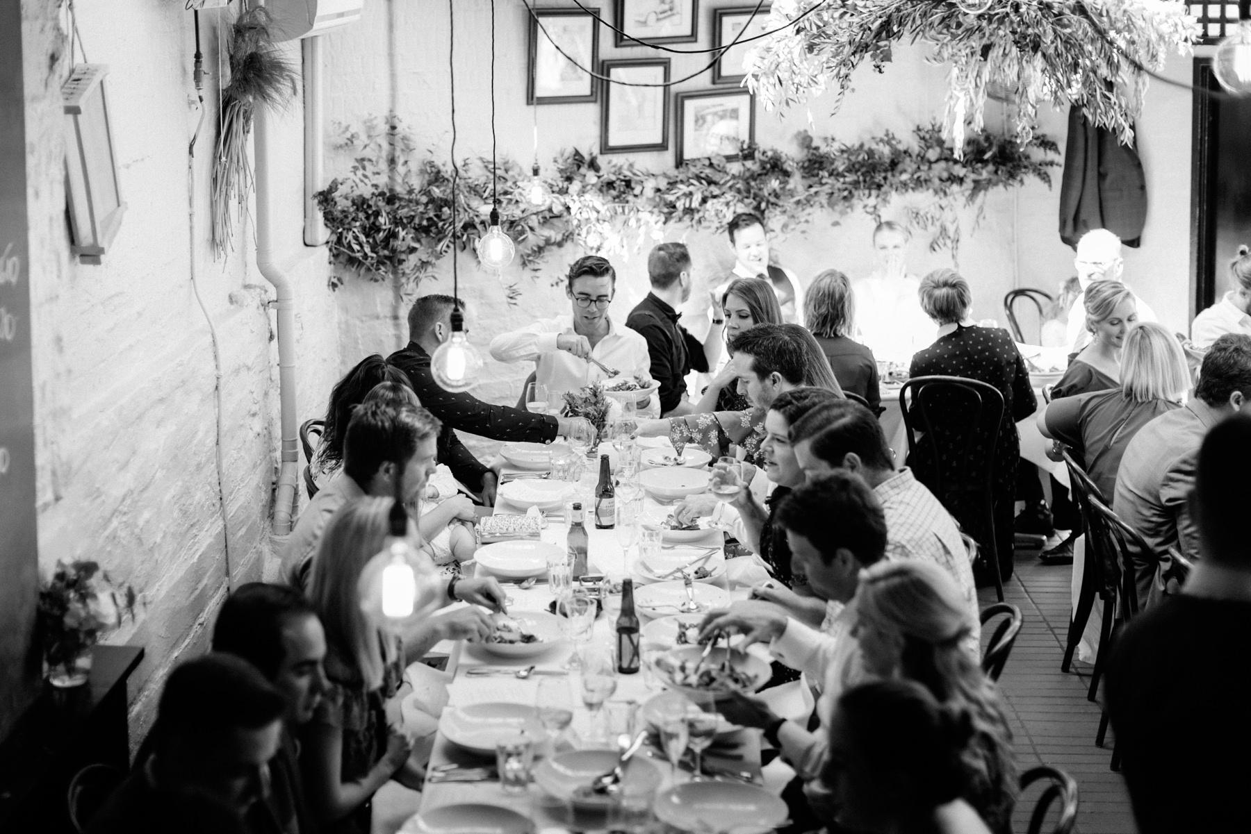 wedding reception at a tavola darlinghust