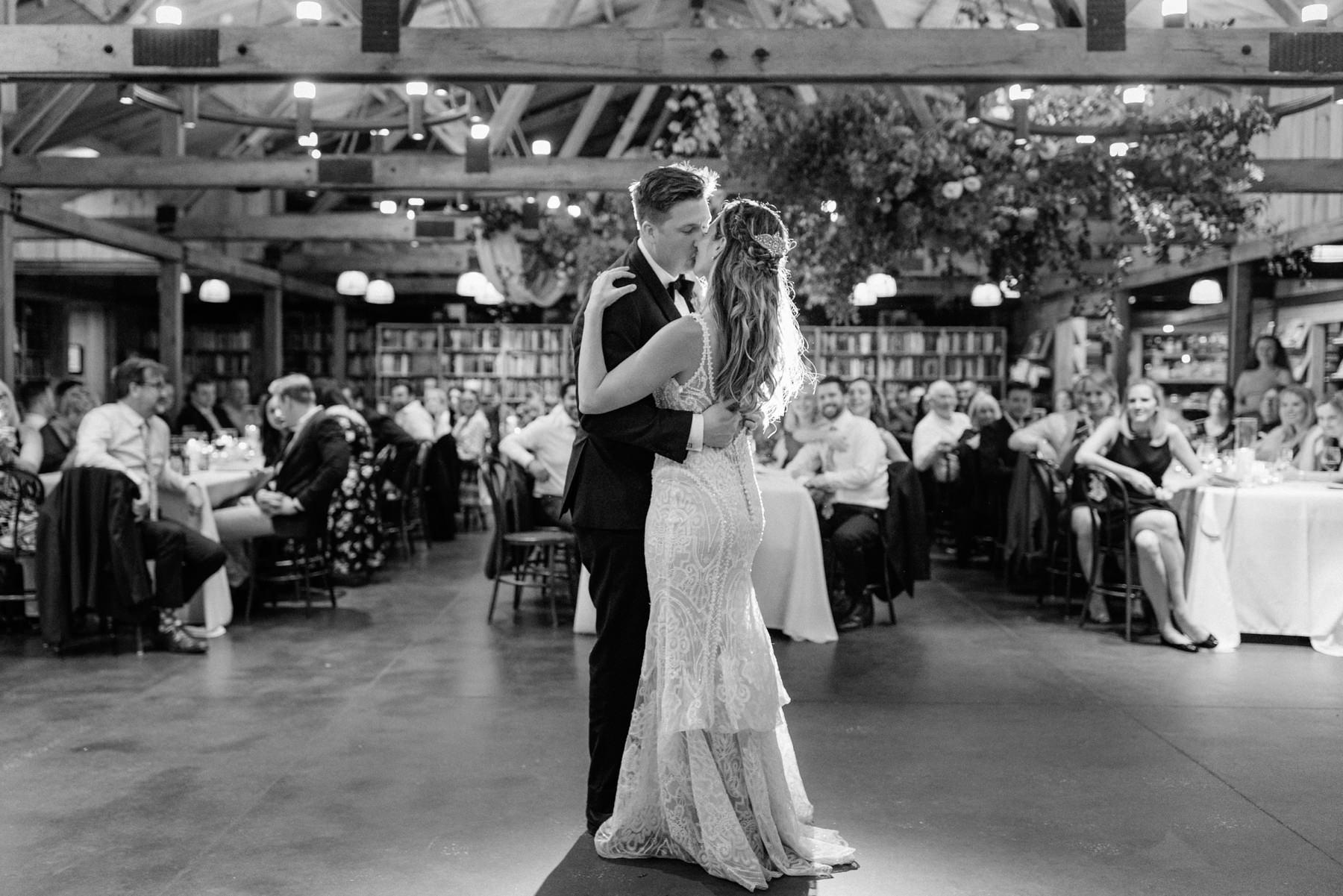 first dance bendooley book barn wedding venue