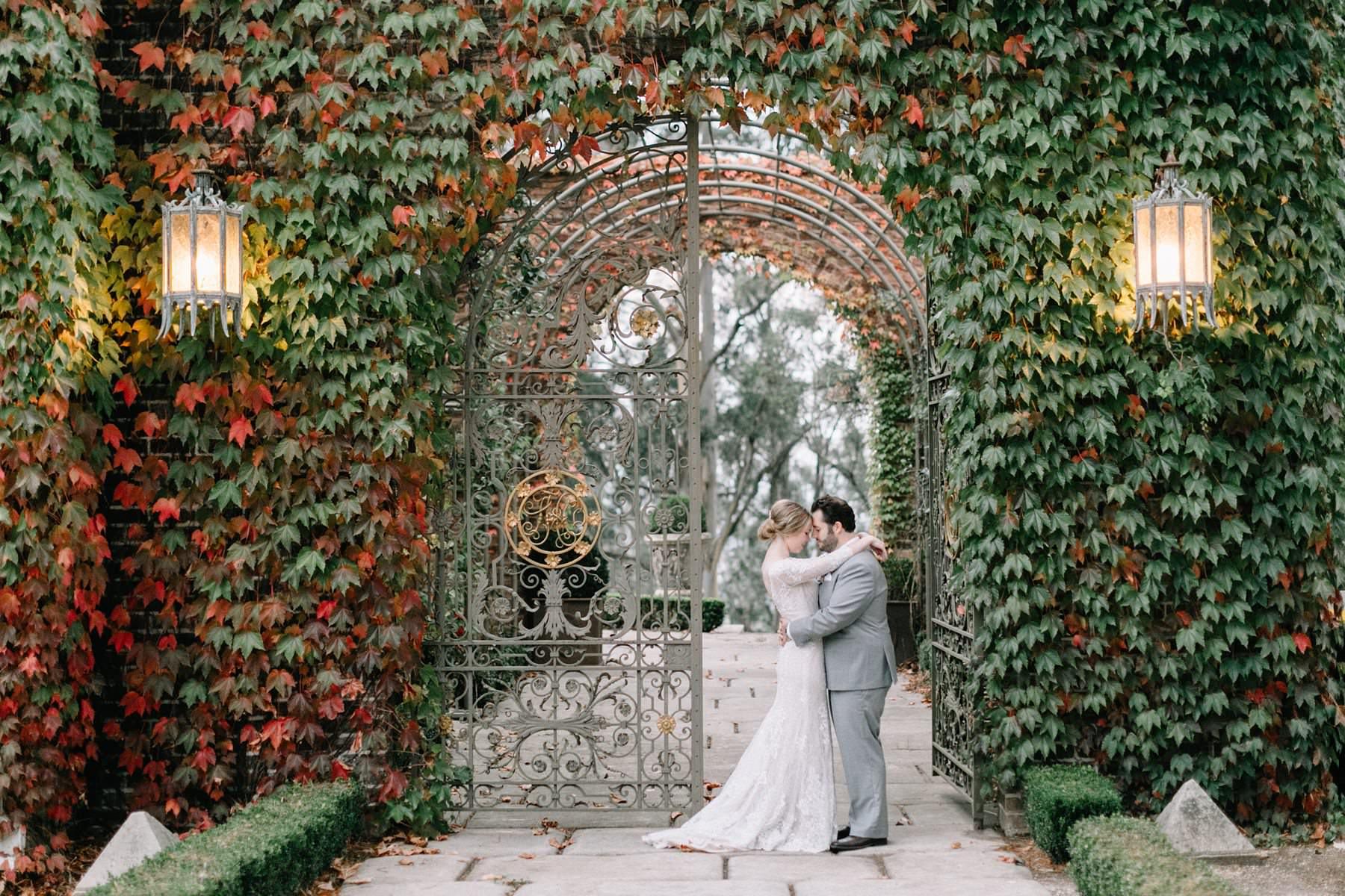 Milton Park wedding photo in autumn