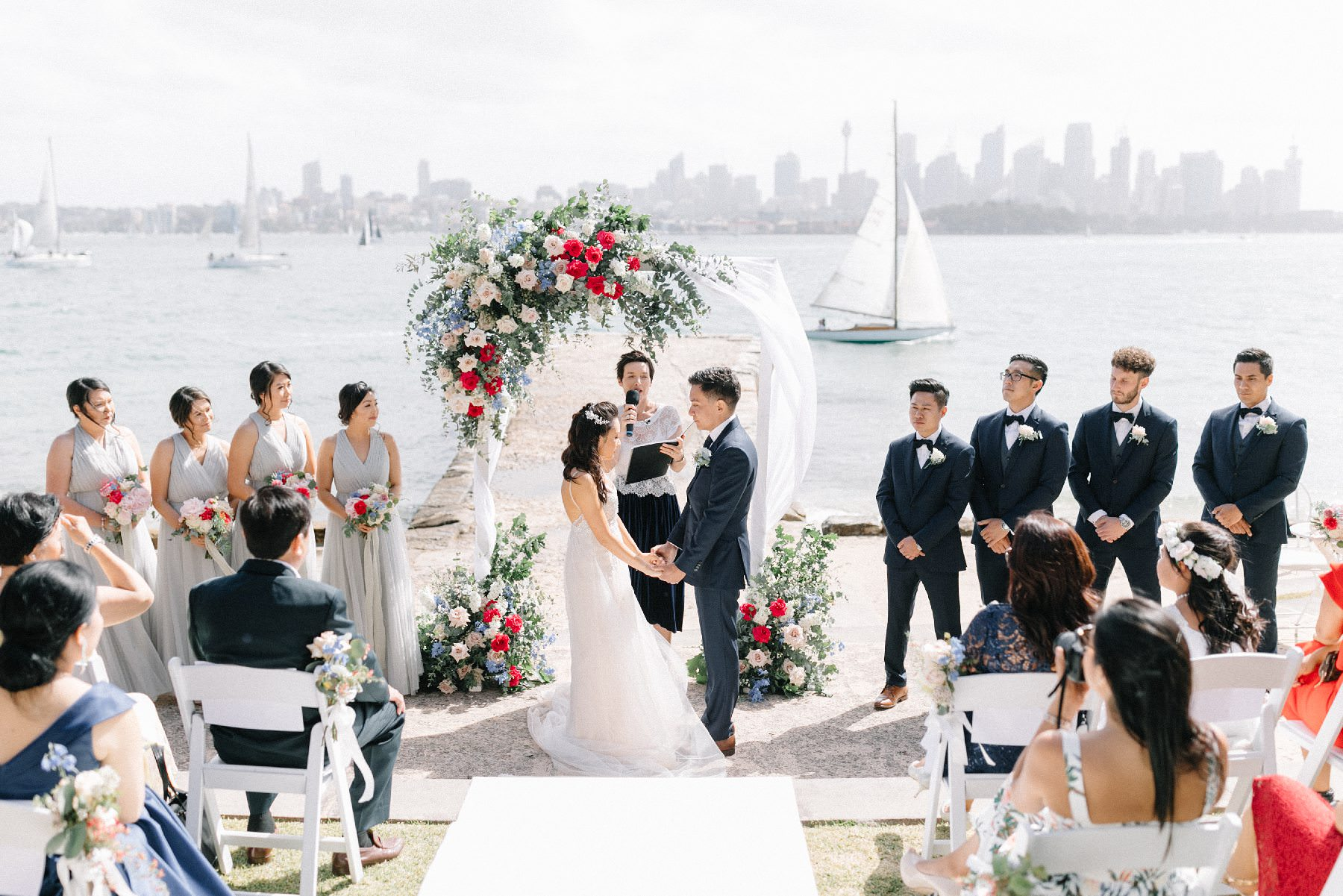 bradleys head wedding ceremony
