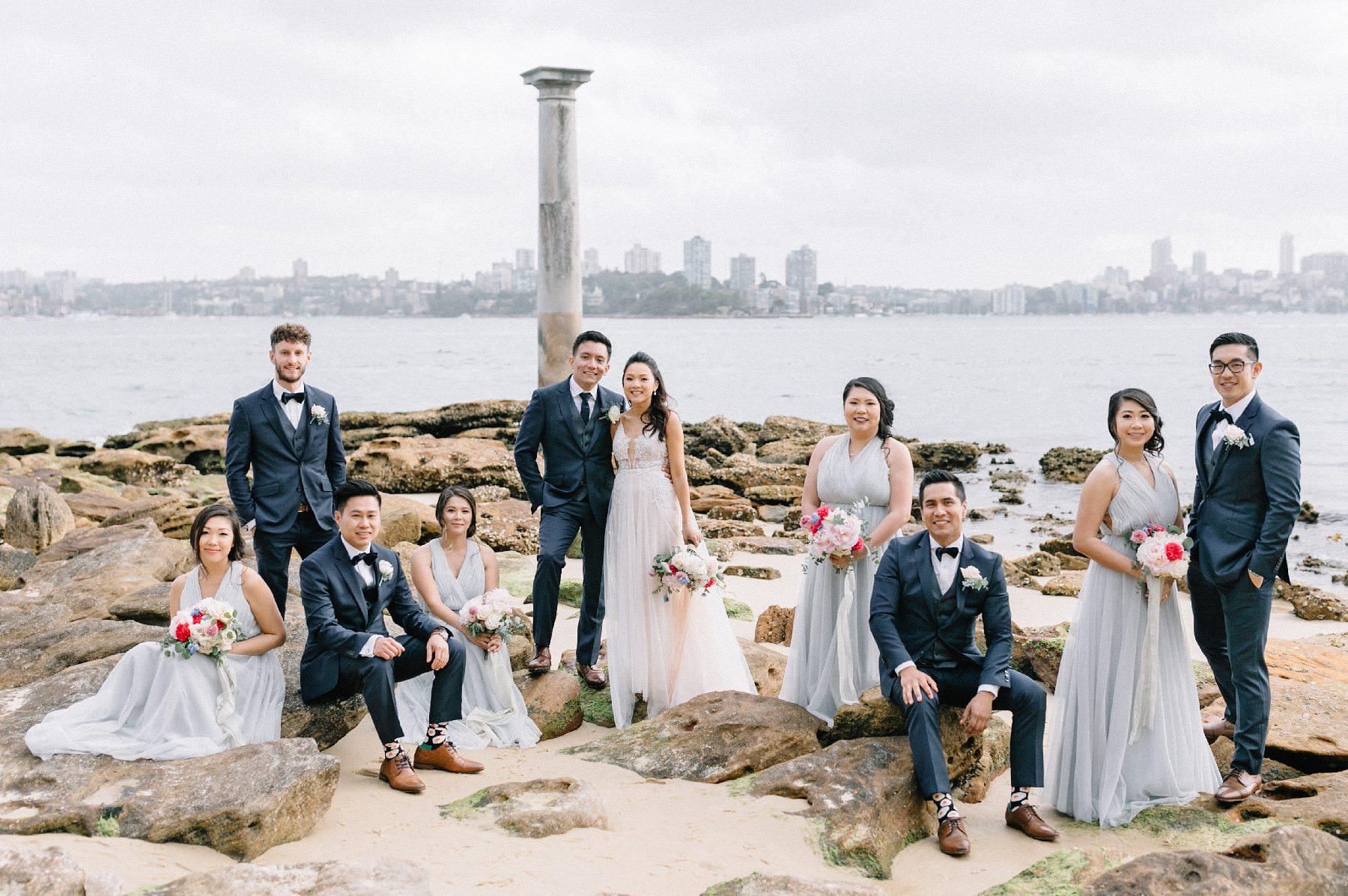 bradleys head wedding bridal party