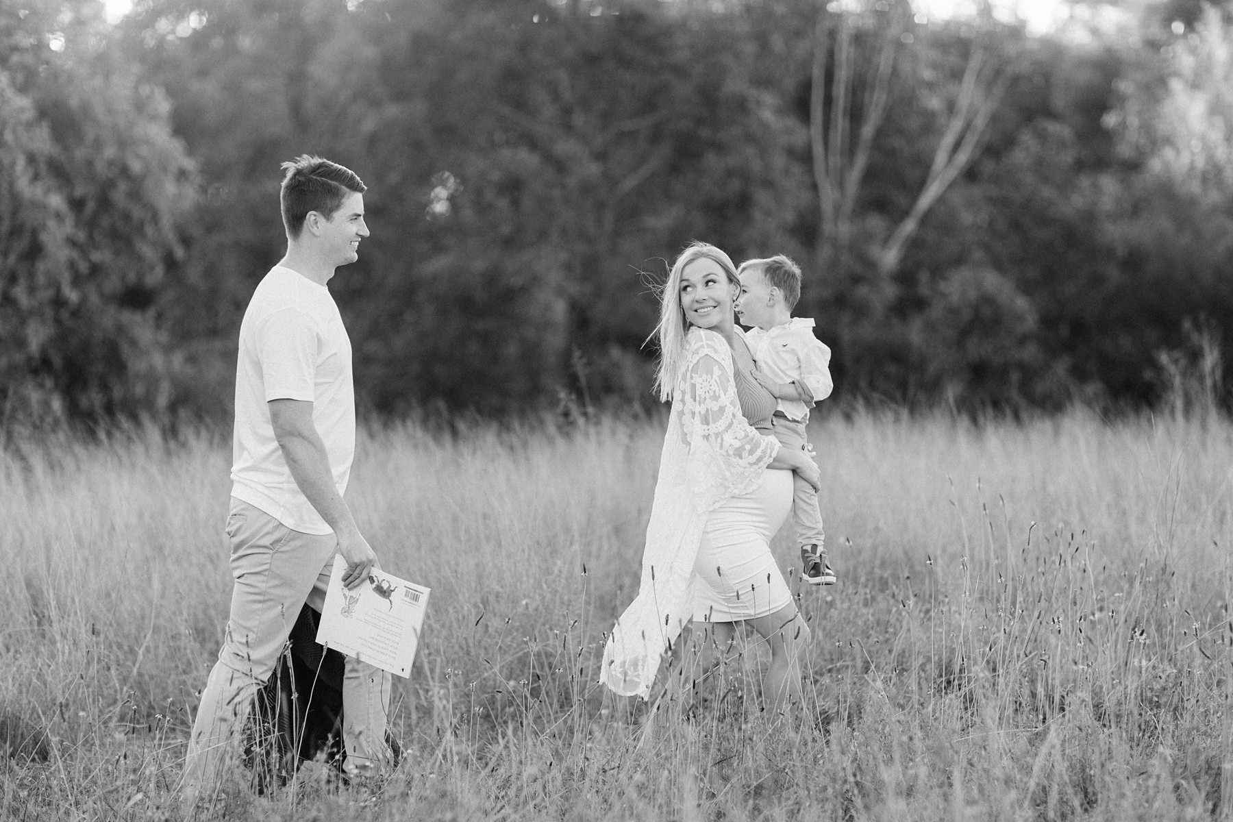 black and white candid family photography